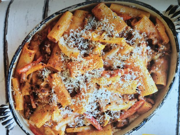 Baked Rigatoni with Fennel, Sausage & Peppers Recipe