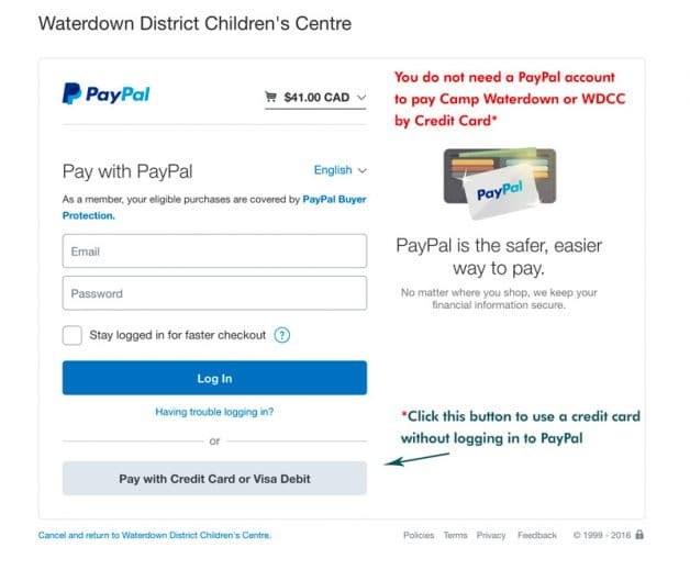 2017 year end child care tax receipts for non pad payments are